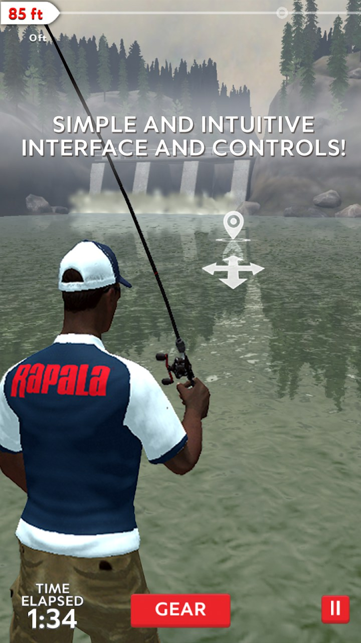 Rapala fishing daily catch games for android 2018 for Real fishing games