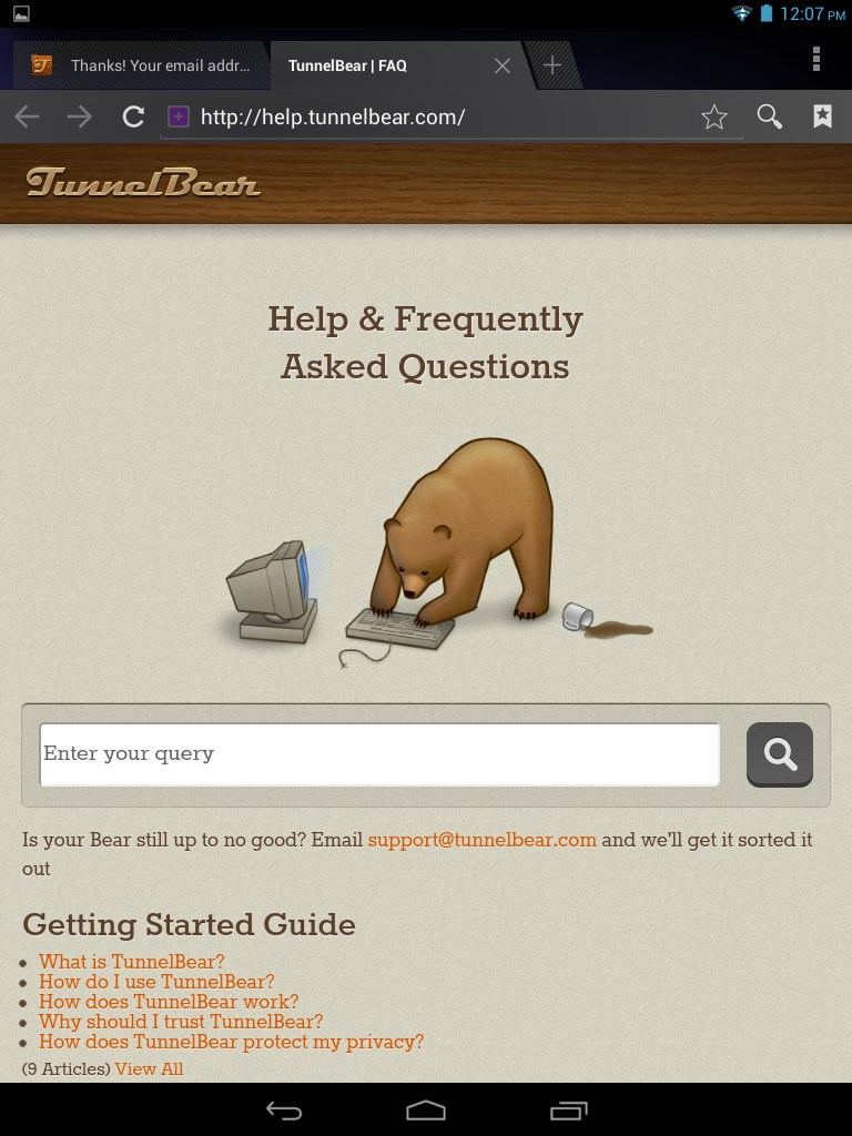 TUNNELBEAR ANDROID TÉLÉCHARGER POUR