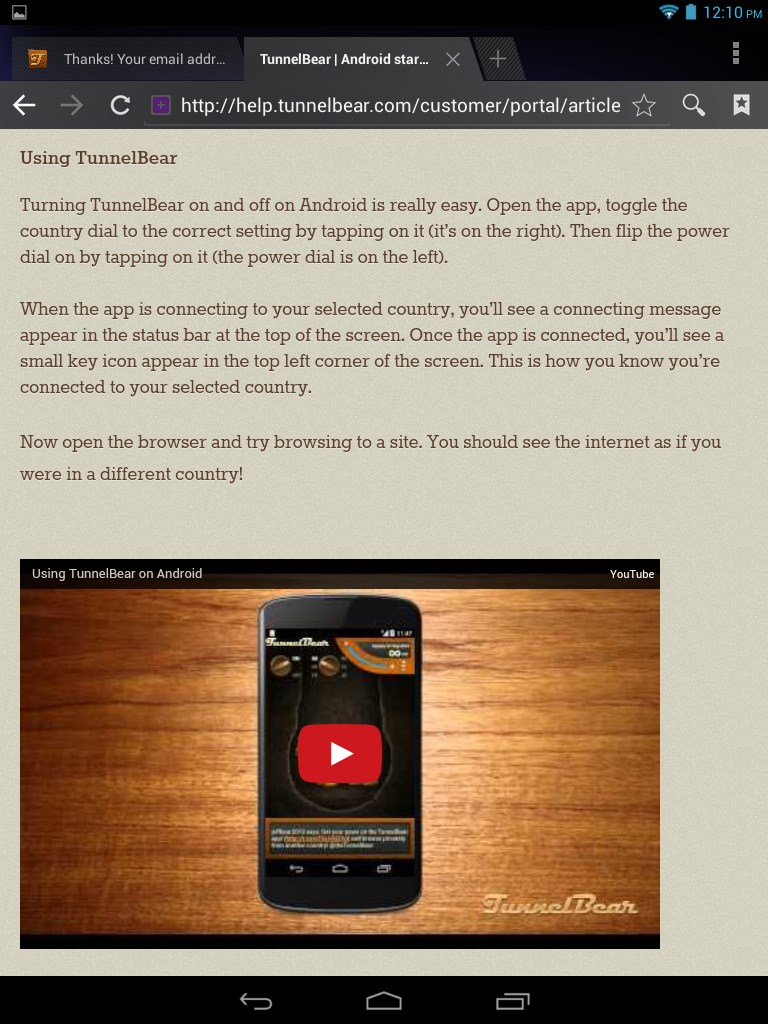 how to download tunnelbear on firestick