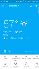 EZ Weather HD Beautiful Widget for Alcatel One Touch T Pop