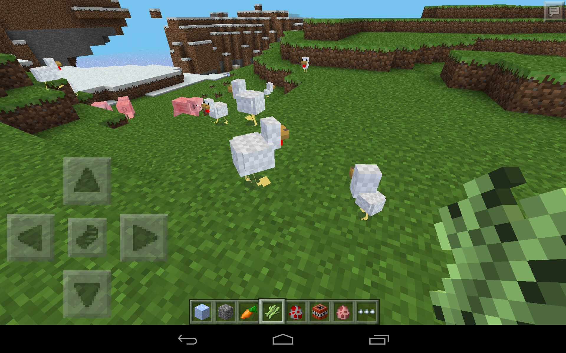 Wonderful image of Minecraft Pocket Edition – Games for Android. Minecraft Pocket  with #1B77B0 color and 1920x1200 pixels