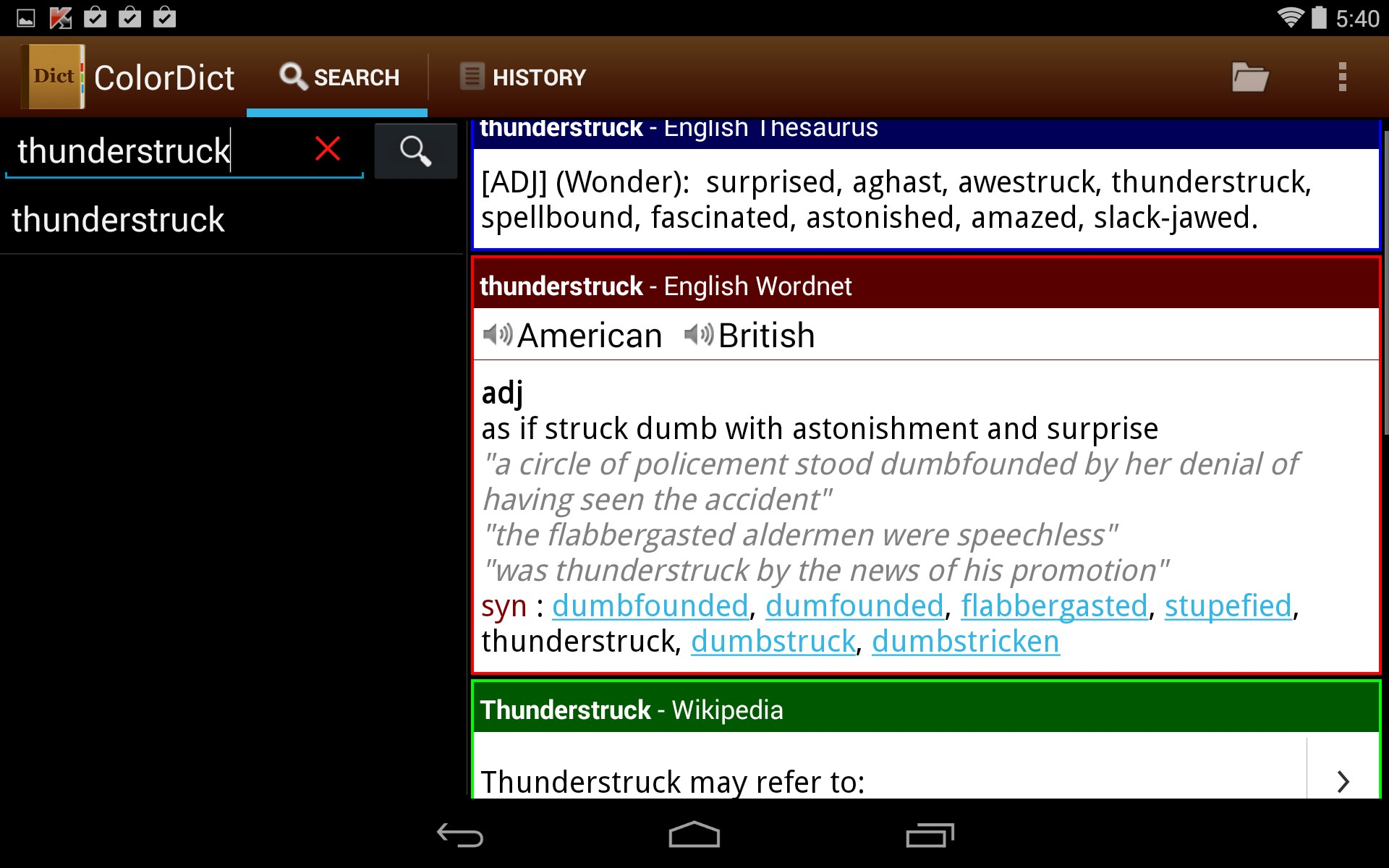 Colordict dictionary wikipedia quick demo youtube.