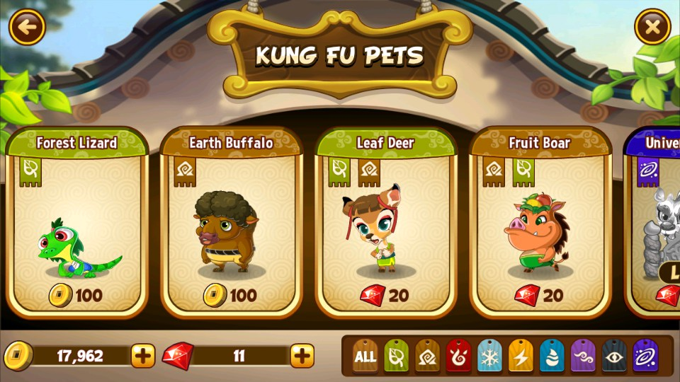 Kung Fu Pets Hack v1.2 - Hack results. Games Features ...
