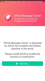 APUS Message Center - Intelligent management for Huawei Ascend Mate
